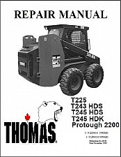 Buy Thomas T225 T243 T245 HDS HDK Protough 2200 Service Repair Manual CD 225 243 245