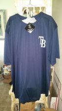Buy Tampa Bay Rays Dark Blue TX-3 Shirt Size 2XL NWT