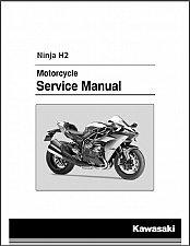Buy 2015-2016-2017 Kawasaki Ninja H2 ( ZX1000NF ) Service & Parts Manual on a CD