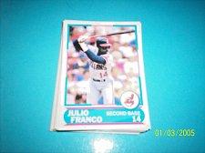 Buy 1988 Score Young Superstars series 11 baseball card julio franco #7 FREE SHIP
