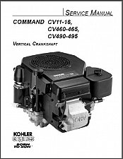 Buy Kohler Command CV11-16 CV460-465 CV490-495 Engines Service Repair Manual CD