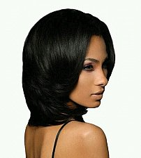 Buy 100% Human Hair Weaving Outre Super Natural with nape and closing piece 1b/30