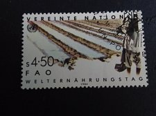 Buy UNO World Food day Vienna Stamp 1984 FD Cancellation Mi:NT-WN 39