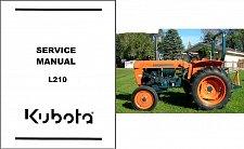 Buy Kubota L210 ( L 210 ) Tractor WSM Service Manual on a CD