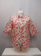 Buy Womens Button Down Shirt SIZE XL Multi Floral Collared Neck
