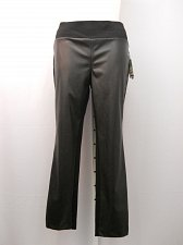 Buy Womens Leggings PLUS SIZE 24W INC Black Faux Leather Front Skinny Legs Elastic