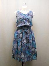 Buy Vintage Dress Size M Animal Sleeveless Smocked Waist CARRIAGE COURT CLASSIC