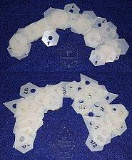 "Buy Mylar 1"" Hexagon & 1/2"" Starpoint 102 Piece Set - Quilting / Sewing Templates -"