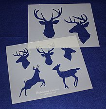 Buy Deer/Buck Stencils -2pk -Mylar 14 Mil-8x10 Painting/Crafts/Stencil/Template