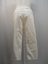 Buy Women Capris STYLE&CO SIZE 18 Straight Leg White Wash Curvy Denim