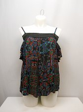 Buy PLUS SIZE 2XL Women Peasant Top Black Floral Off Shoulders Straps Dolman Sleeves