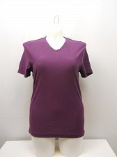 Buy SIZE M Women Knit Top KENNETH COLE REACTION Solid Purple V-Neck Short Sleeves