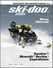 Buy 2005 Ski-Doo Tundra / Scandic / Expedition Service Manual on a CD