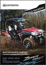 Buy CFMoto Z8 ZForce 800 EX ( CF800 ) 4X4 ATV Service Manual on a CD