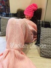 Buy Knitted mermaid tail blanket stunning gift idea for kids & adults luxury blush