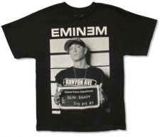 Buy Eminem concert shirt t shirt mugshot wanted, pre owned