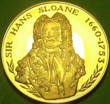 Buy 24k Gold-Plated Proof The British Museum Medallion~Sir Hans Sloane~37.8mm 20g