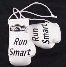 "Buy Freightliner ""Run Smart"" Trucks mini boxing gloves ideal for windscreen (a pair)"