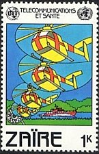 Buy Zaire1v mnh Stamp 1982Red Cross helicopters and Morse code