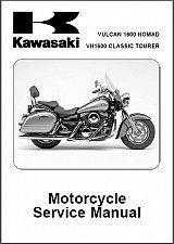 Buy 2005-2006 Kawasaki Vulcan 1600 Nomad / VN1600 Classic Tourer Service Manual CD