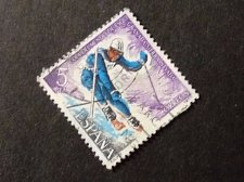 Buy *Spain 1977 1v used Stamp on Sport World Ski Championships, Granada Mi:ES 2294