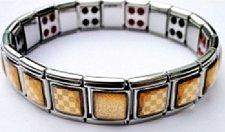 Buy ELECTRIFIED FEEL BETTER EJCN-005A Steel Bracelet Bio-Magnets 20 Germanium Stones