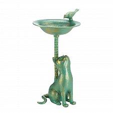 Buy *17613U - Curious Cat Green Garden Birdbath Yard Art