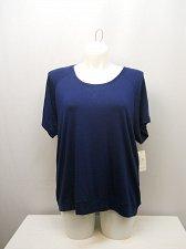 Buy PLUS SIZE 3XL Women Sleepshirt ALFANI INTIMATES Navy Blue Scoop Neck Short Sleev