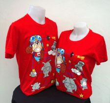 Buy Dr.Slump red Cotton 100% T-Shirt Akira Tonyama,Shueisha, Toei Animation