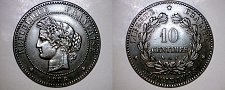 Buy 1886-A French 10 Centimes World Coin - France