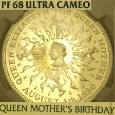 Buy Great Britain 1980 Silver 25 Pence NGC PF-68 Ultra Cameo~Queen Mothers Birthday~