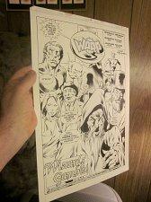 Buy Original Comic Art SPLASH: WARP #14 Page #1 Mike Gustovich JERRY BINGHAM Gillis