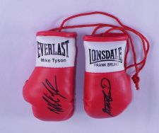 Buy Autographed Mini Boxing Gloves Mike Tyson V Frank Bruno