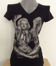 Buy Women'sTatted Angelic Marilyn Monroe Graphic Tee Size S