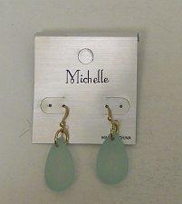 Buy Women Fashion Drop Dangle Earrings Light Blue Beads Teardrops MICHELLE Hook Fast