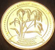 Buy Madagascar 1996 5 Ariary Unc~Last Year Ever Minted~Rice Plant~Free Shipping