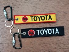 Buy TOYOTA Keychain Keyring Key Holder Embroidered Fabric Strap Tag Motorcycle,GIFT