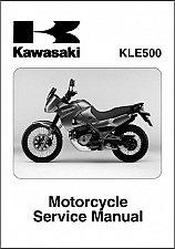 Buy 2005-2006-2007 Kawasaki KLE500 Service Manual on a CD