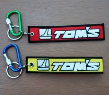 Buy TOM'S Keychain Key ring Embroidered Fabric Strap Tag Holder Motorcycle Car Gift