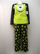 Buy MONSTER MIKE Womens Pajamas 2PC Set Size L Sleep Shirt & Pants Minky Fleece