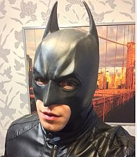 Buy Batman full mask Halloween costume adult dark knight rises cosplay black latex