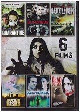 Buy 6movie DVD Acceptable Risks,QUARANTINE,Dead Outside,BLINDNESS,AUTUMN,ADRENALIN