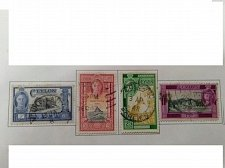 Buy Ceylon 1947 set of four used stamps
