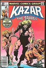 Buy KA-ZAR The Savage #1 Marvel Comics 1981 Anderson 1st print NICE