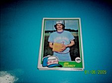 Buy 1981 Topps BASEBALL CARD OF JIM CLANCY #19 MINT FREE SHIPPING