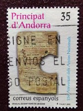 Buy Andorra Spanish 1v used stamp 2000 Theme National Archive Mi277