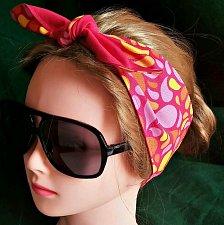 Buy Headband Hair Wraptie Bandana. Paisley print 100% Cotton hand made