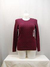 Buy PLUS SIZE 1X Women Sweater CHARTER CLUB Berry Long Sleeves Crewneck Medium Knit
