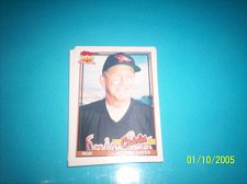Buy 1991 Topps Traded card of johnny oates orioles #85T mint free ship