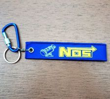 Buy NOS Keychain Keyring Key Holder Embroidered Fabric Strap Tag Motorcycle